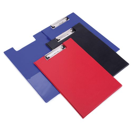 Rapesco Foldover Clipboard with Interior Pocket Foolscap Red VFDCB0R3
