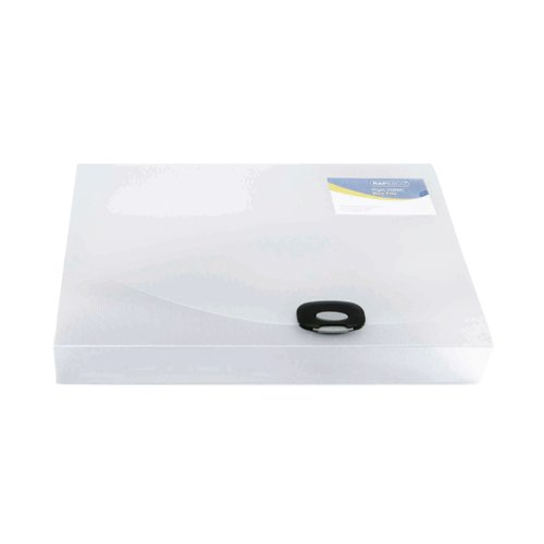 Rapesco Rigid Wallet Box File 40mm Capacity 400 Sheets A4 Clear 0711