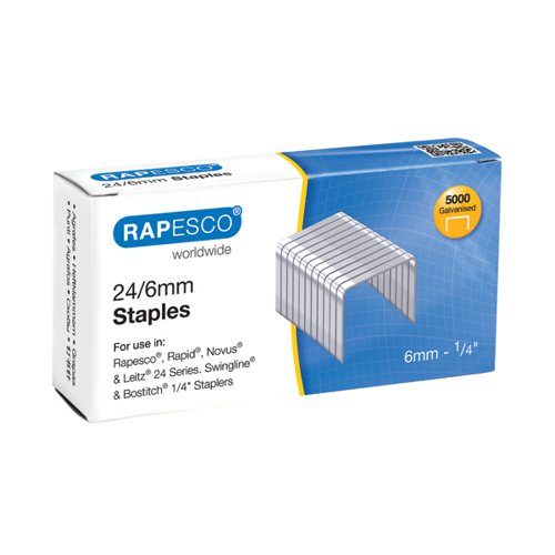 Rapesco 24/6mm Staples Chisel Point (Pack of 5000) S24602Z3