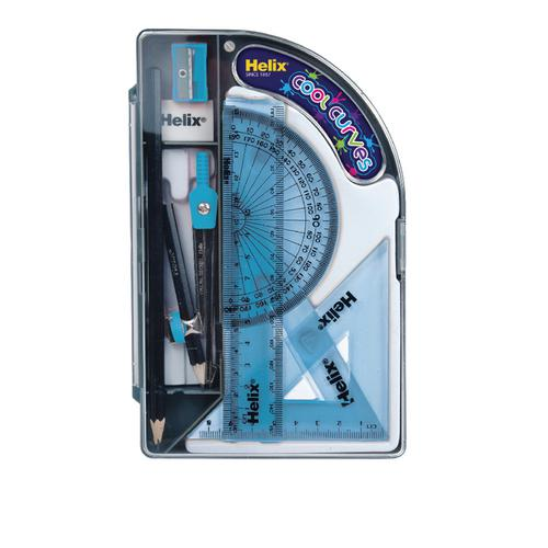 Helix Cool Curves Maths Set (Pack of 8) HX3595
