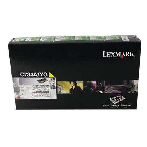 Lexmark Yellow Return Program Toner Cartridge C734A1YG