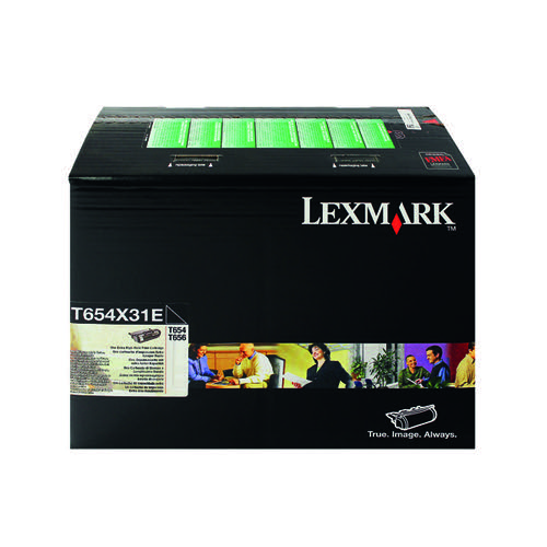 Lexmark T654 Black Extra High Yield Toner Cartridge 0T654X31E