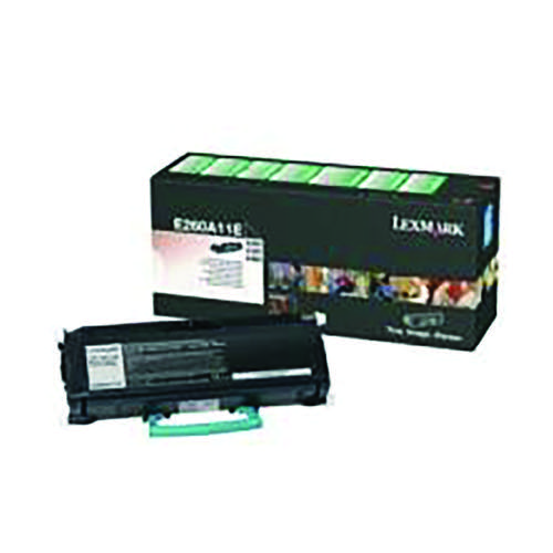 Lexmark Corporate Black Toner Cartridge E260A31E