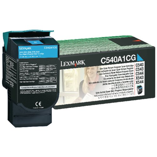 Lexmark C540 Cyan Return Program Toner Cartridge 0C540A1CG