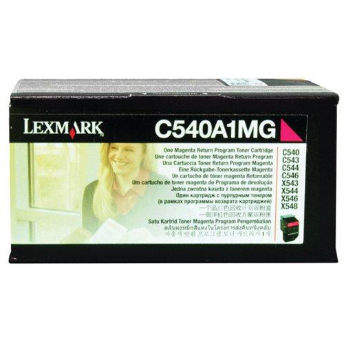 Lexmark C540 Magenta Return Program Toner Cartridge 0C540A1MG
