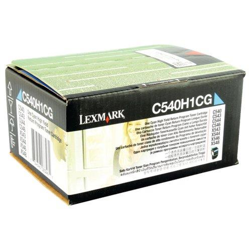 Lexmark C540 Cyan High Yield Return Program Cartridge 0C540H1CG
