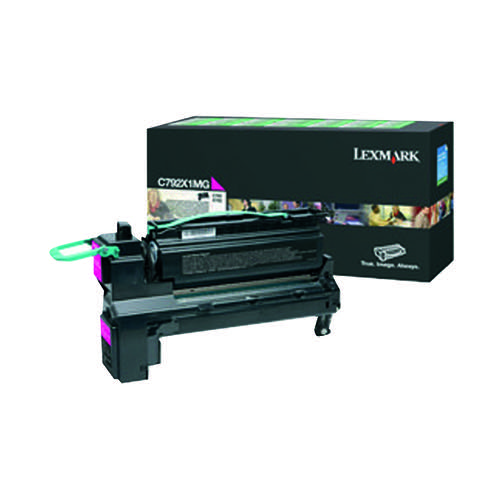 Lexmark C792 Magenta Extra High Yield Toner Cartridge C792X1MG