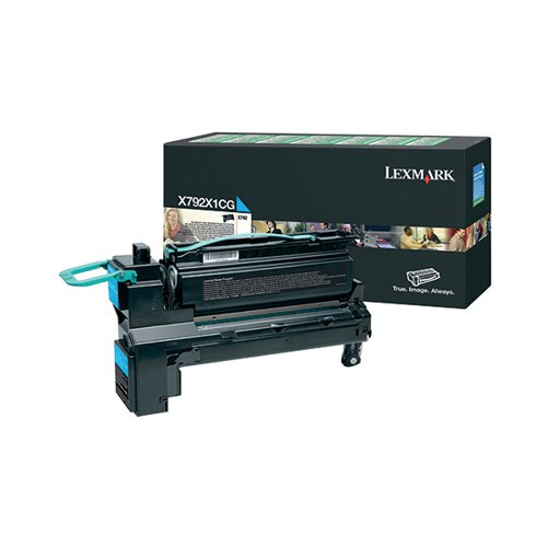 Lexmark Cyan Extra High Yield Return Program Toner Cartridge X792X1CG