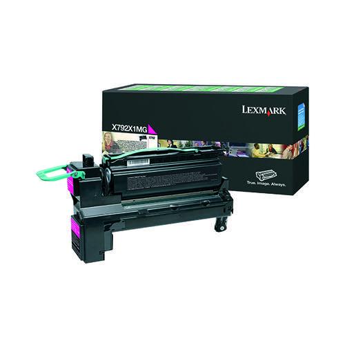 Lexmark Magenta Extra High Yield Return Program Toner X792X1MG