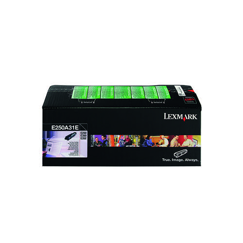 Lexmark E250 Black Return Program Corporate Toner Cartridge E250A31E
