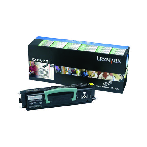 Lexmark X203 Black Return Programme Toner Cartridge X203A11G