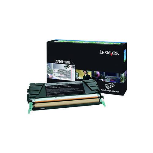 Lexmark C746 Black High Yield Return Programme Toner C746H1KG