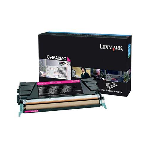 Lexmark C746 Magenta Return Program Toner Cartridge C746A1MG
