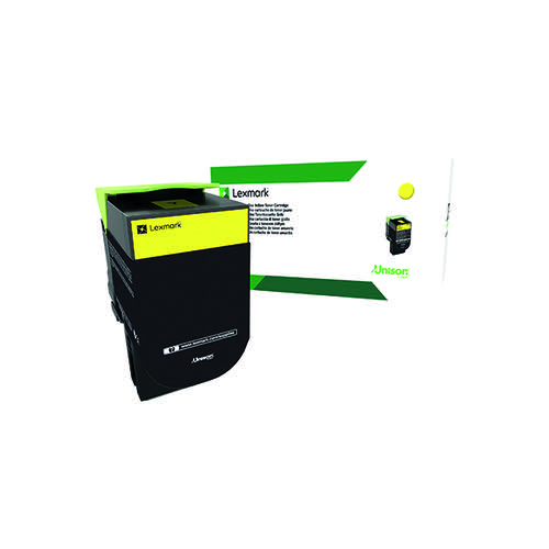 Lexmark 702Y Yellow Toner Cartridge 70C20Y0