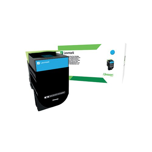 Lexmark 702HC Cyan High Yield Toner Cartridge 70C2HC0