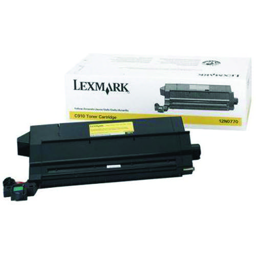 Lexmark C910/912 Yellow Toner Cartridge 12N0770