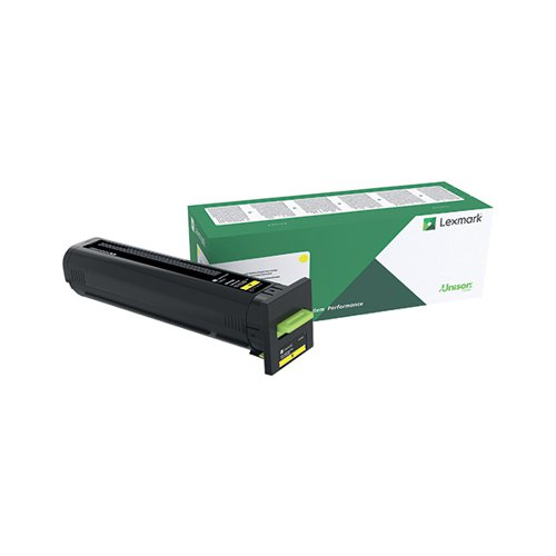 Lexmark CS/CX 827 Yellow Toner Cartridge 73B20Y0