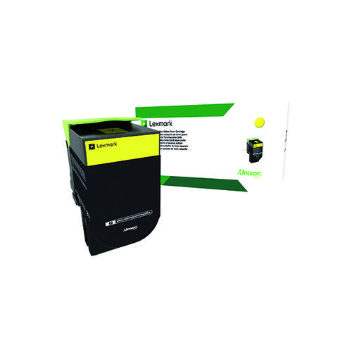 Lexmark 802Y Yellow Toner Cartridge 80C20Y0