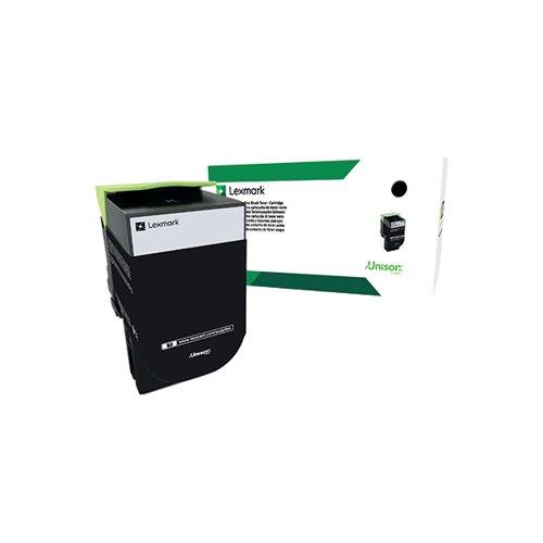 Lexmark 802K Black Toner Cartridge 80C20K0