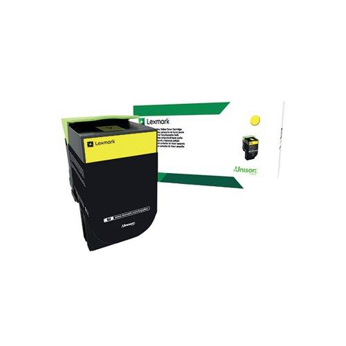 Lexmark 802SY Yellow Toner Cartridge 80C2SY0