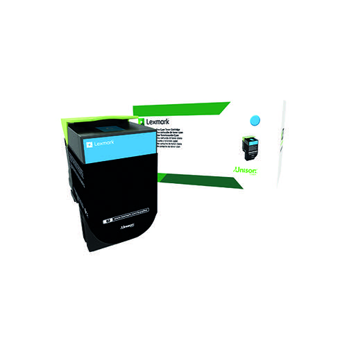 Lexmark 802XC Cyan Extra High Yield Toner Cartridge 80C2XC0