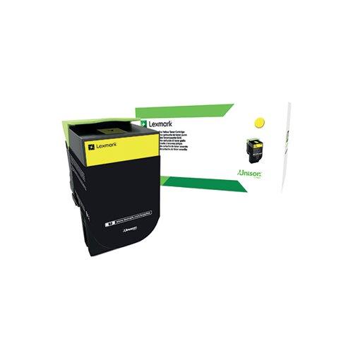 Lexmark 802XY Yellow Extra High Yield Toner Cartridge 80C2XY0