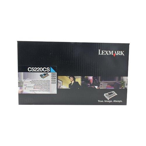Lexmark C522 Cyan Return Program Toner Cartridge C5220CS