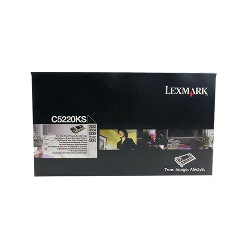 Lexmark C5220KS Black Return Program Toner Cartridge