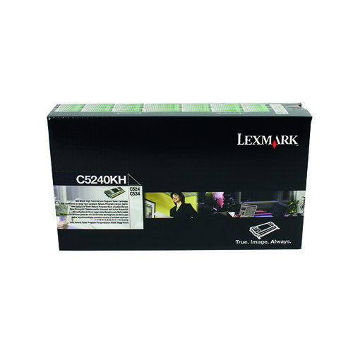 Lexmark C524 Black High Yield Return Program Toner Cartridge C5240KH