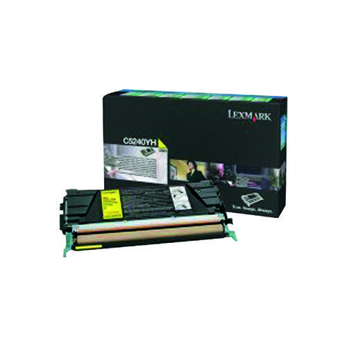 Lexmark C524 Yellow High Yield Return Program Toner Cartridge C5240YH