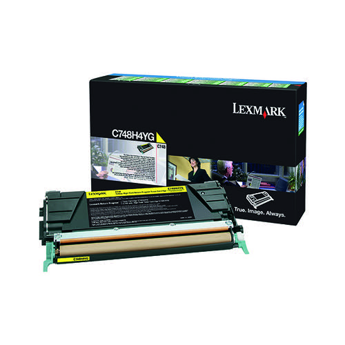 Lexmark C748 Yellow High Yield Return Program Toner Cartridge C748H3YG
