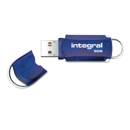 Integral Courier 8GB Flash Drive USB 2.0 INFD8GBCOU