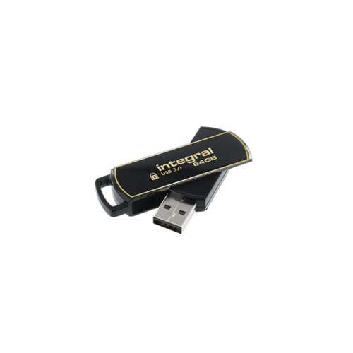 Integral Secure 360 Encrypted USB 3.0 64GB Flash Drive INFD64GB360SEC3.0