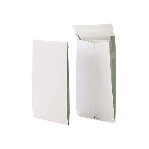 Securitex C4 Envelope Gusset Pocket Tear Resistant 38mm 130gsm White (Pack of 50) 8350206