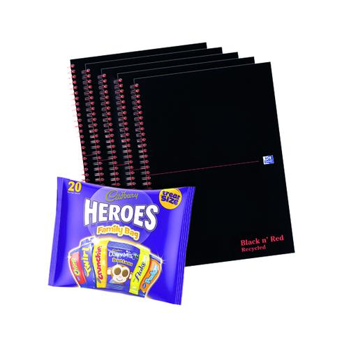 BUY BnR A4 WB Glosy 5 Pack Ruled Recycled Plus FOC Heroes Family Bag
