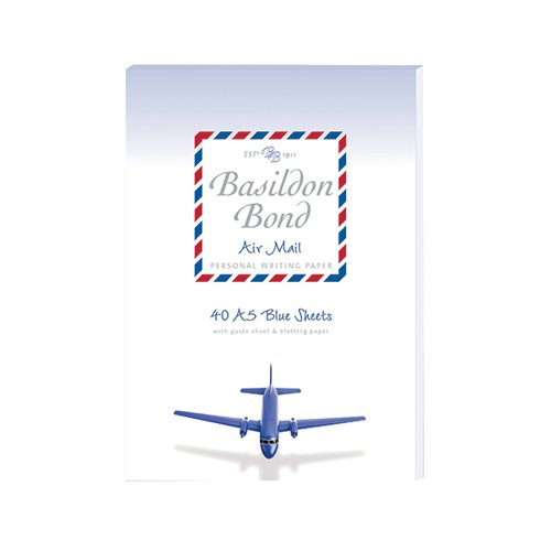 Basildon Bond Airmail Pad 148 x 210mm Blue (Pack of 10) 100104698