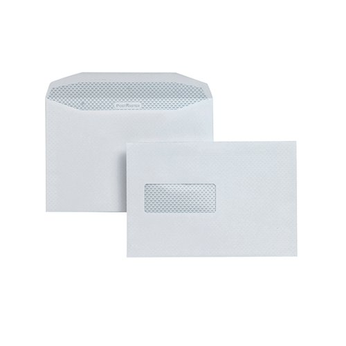 Postmaster Envelope 162x238mm High Window Gummed 90gsm White (Pack of 500) A29984