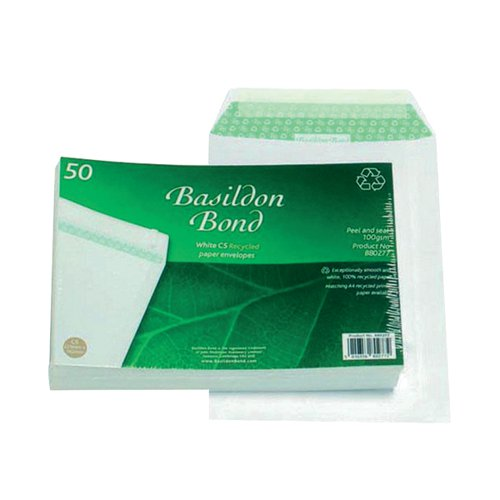 Basildon Bond C5 Pocket Envelope Plain White (Pack of 50) B80277