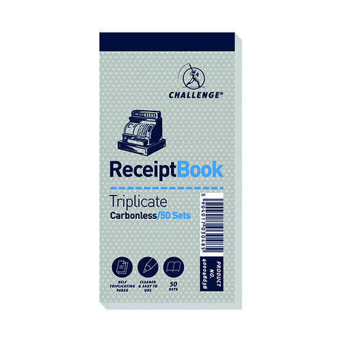 Challenge Trip Book 70x140 Receipt (Pack of 10) 400048638