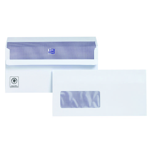 Plus Fabric DL Envelopes Window Wallet Self Seal 120gsm White (Pack of 500) C22570