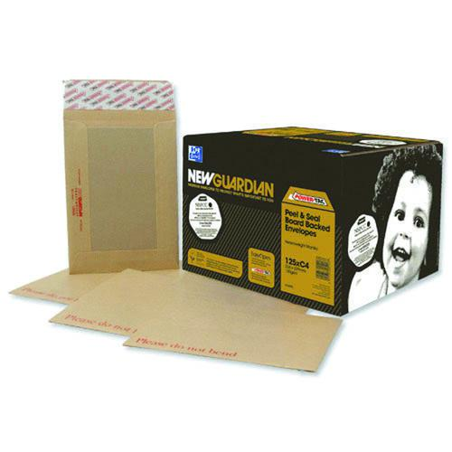 New Guardian Envelope 444x368mm Board Back Manilla (Pack of 50) C27726