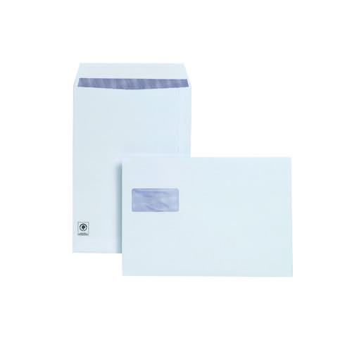 Plus Fabric C4 Envelope Pocket Window Peel and Seal 120gsm White (Pack of 250) F28749