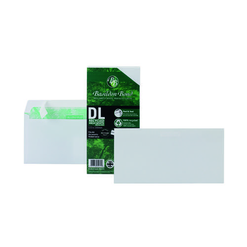 Basildon Bond DL Wallet Envelope Plain White (Pack of 100) F80275