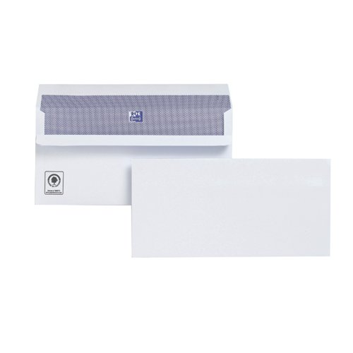 Plus Fabric DL Envelopes Wallet Self Seal 120gsm White (Pack of 500) H25470