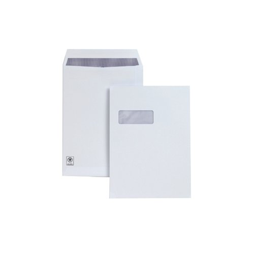 Plus Fabric C4 Envelope Pocket Window Self and Seal 120gsm White (Pack of 250) H27070
