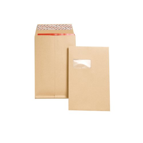 New Guardian C4 Envelope Window Peel/Seal Manilla (Pack of 100) J27366