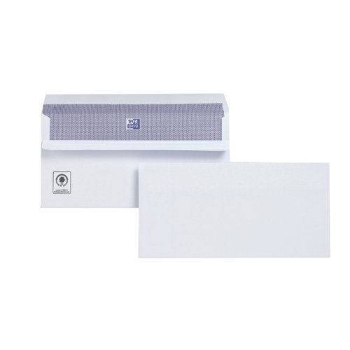Plus Fabric DL Envelopes Wallet Self Seal 120gsm White (Pack of 250) M23270