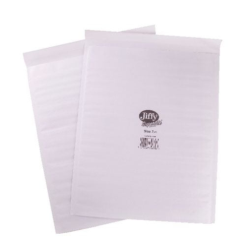 Jiffy Superlite Mailer Size 7 340x435mm White (Pack of 100) MBSL02807 Padded Bags JF77964