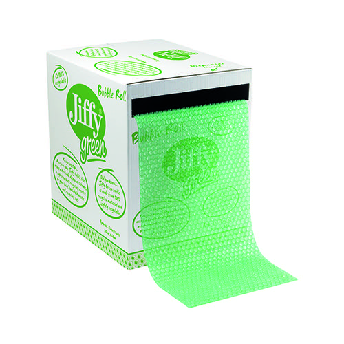 Jiffy Recycled Bubble Box Roll 300mmx50m Green 43010