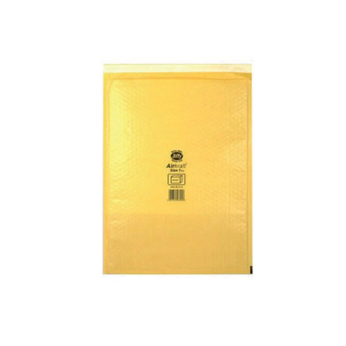 Jiffy AirKraft Bag Size 7 340x445mm Gold GO-7 (Pack of 10) MMUL04606